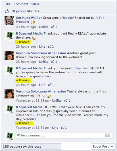 Facebook responding