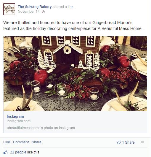 The Solvang Bakery IG post