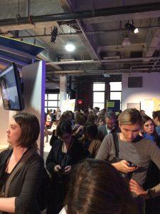 Waiting in line at Social Media Week