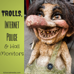 trolls, internet police and hall monitors
