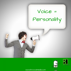 Voice = Personality