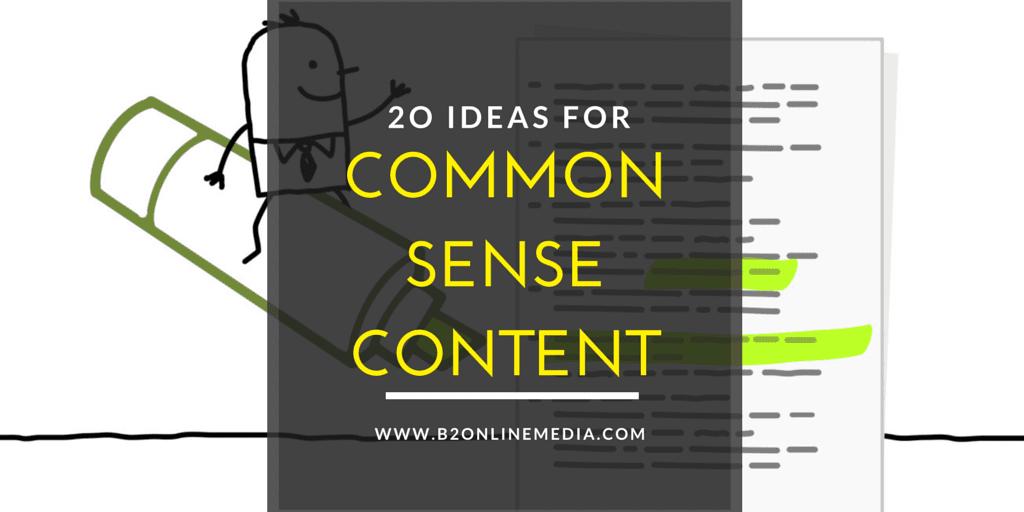 common sense content
