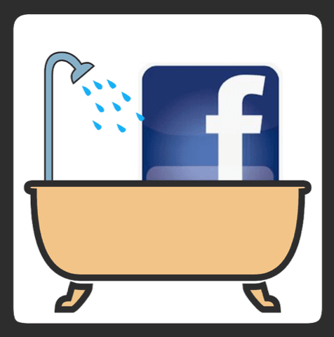 facebook in the tub