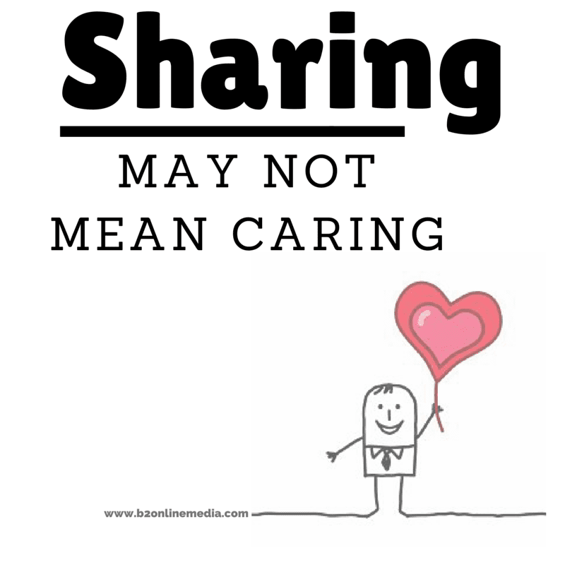 sharing may not mean caring