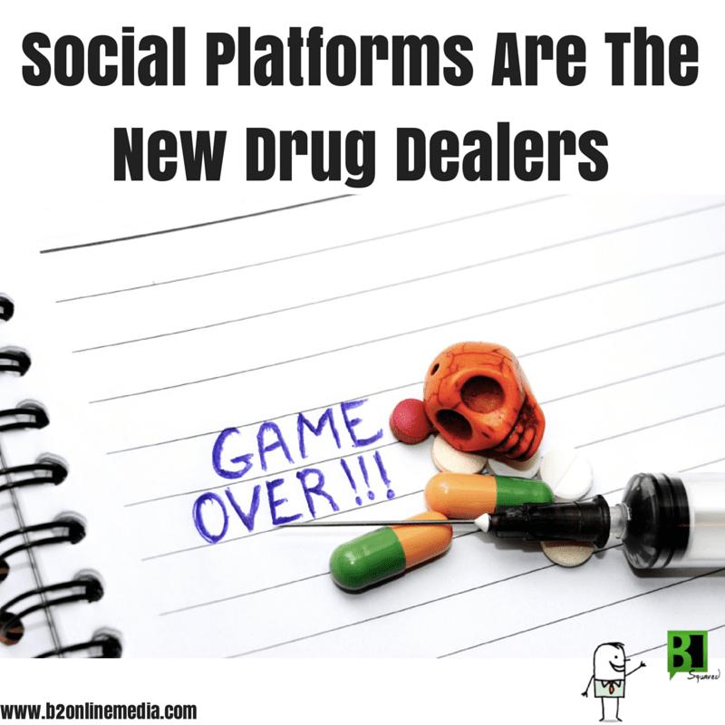 social platforms are drug dealers